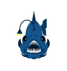 Deep sea fish angler isolated vector