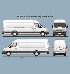 Dodge sprinter extra long wheel base cargo van vector