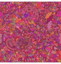 Doodle seamless background oriental pink vector