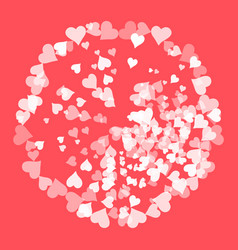 elegant light background with hearts and place for vector image