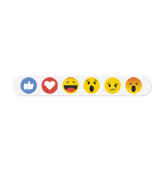 emoji emoticon in flat style set icons social vector image