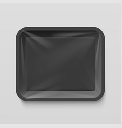 empty plastic food container vector image