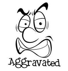 Facial expression with word aggravated vector