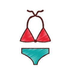female swimwear isolated icon vector image