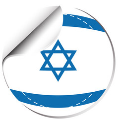 flag of israel in round shape vector image