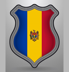 Flag of moldova badge and icon vector