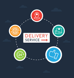 flat delivery service vector image
