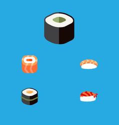 Flat icon sashimi set of oriental gourmet vector