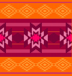 folk ornamental textile pattern vector image