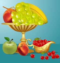 Fruits Still life vector image