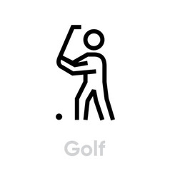 golf player sport icons vector image