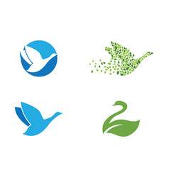 Goose logo template vector