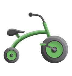 Green tricycle icon cartoon style vector