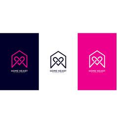Home love logo design vector