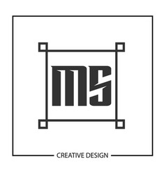 Initial letter ms logo template design vector