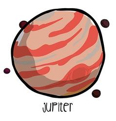 Jupiter drawn vector