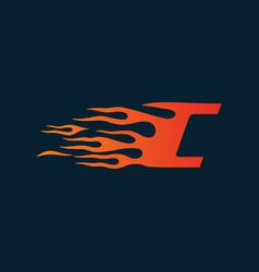 letter c flame logo speed logo design concept vector image