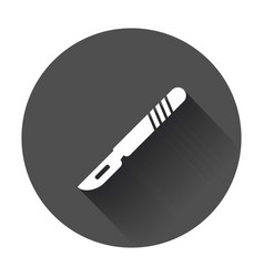 medical scalpel icon hospital surgery knife sign vector image