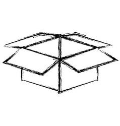 Monochrome blurred silhouette of box of cardboard vector