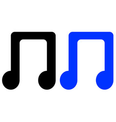 Music notes song melody or tune flat vector