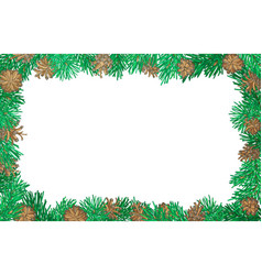 nature horizontal background with pine branches vector image