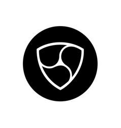 Nem coin symbol logo vector