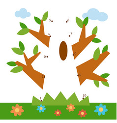 numbers game for children oak vector image
