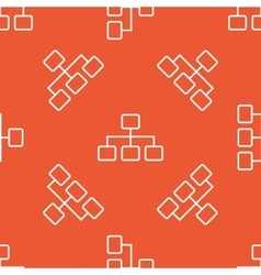 Orange scheme pattern vector image