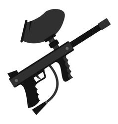 Paintball marker gun icon flat style vector