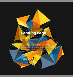 polygonal geometric design abstract shape made of vector image