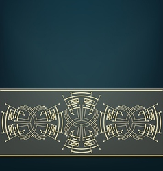 Retro Art Deco stylized background vector image