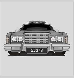 Retro vintage classic saloon car vector
