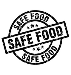 Safe food round grunge black stamp vector