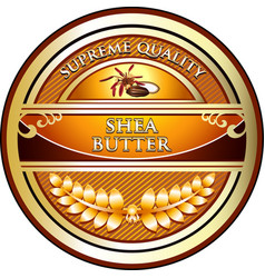 Shea butter gold icon vector