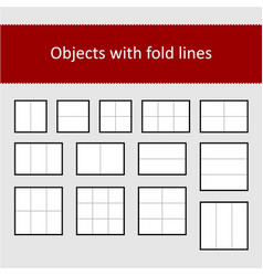sheets with fold lines set vector image