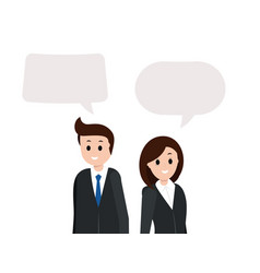 smiling man and woman with empty copy space vector image