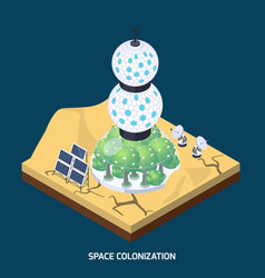 Space colonization modules composition vector