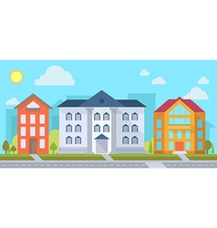 Street with office vector image