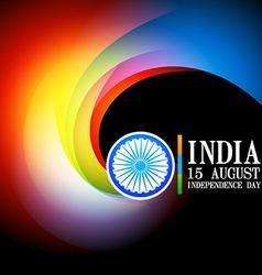 Stylish indian flag background vector
