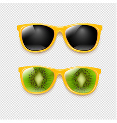 summer sunglasses set isolated transparent vector image