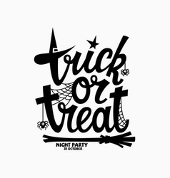 Trick or treat lettering vector