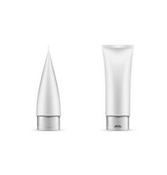 tube mock up cosmetic white plastic tube vector image