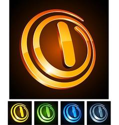 Vibrant 3d l letter vector image