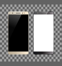White and black smartphones vector