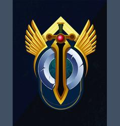 Wings sword vector