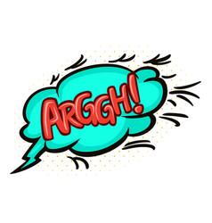 Word text arggh image vector