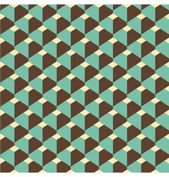 3d retro pattern vector image