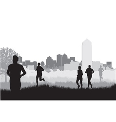 city runners vector image