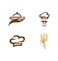 hat chef with logo template vector image