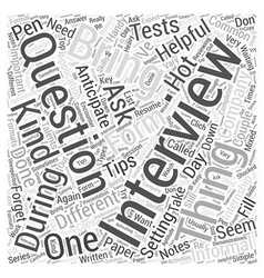 Hot tips for your internship interview word cloud vector